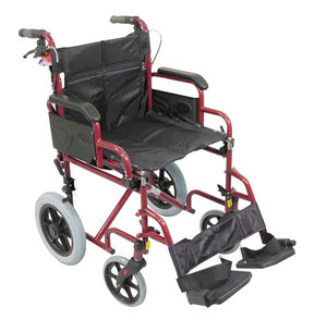 Aidapt Deluxe Attendant Propelled Steel Wheelchair Blue - VA169RED