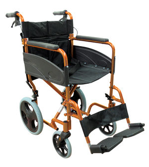 Aidapt Compact Aluminium Transit Wheelchair Orange - VA170ORANGE