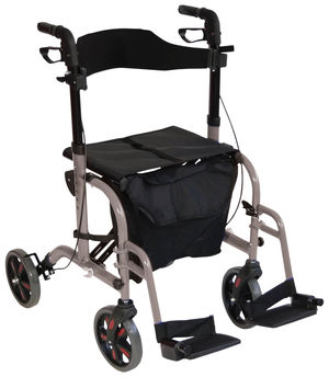Aidapt Duo Deluxe Rollator and Transit Chair in One Grey - VP184GREY