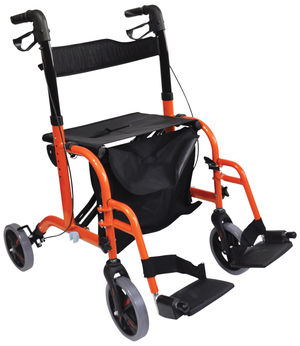 Aidapt Duo Deluxe Rollator and Transit Chair in One Orange - VP184ORANGE