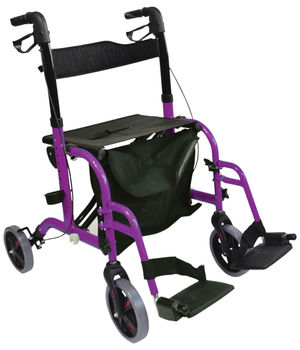 Aidapt Duo Deluxe Rollator and Transit Chair in One Purple - VP184PURPLE