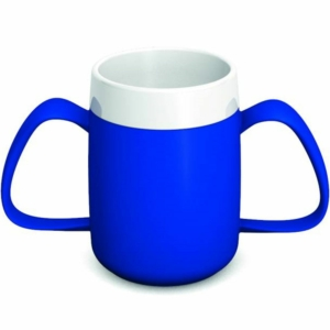 Ornamin Two Handled Mug + internal cone - 200ml - Blue/White