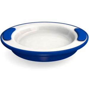 Ornamin Keep Warm Plate - 25.5cm - Blue/White
