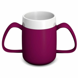 Ornamin Two Handled Mug + internal cone - 200ml - Blackberry/White