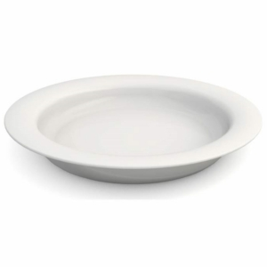 Ornamin Plate With Sloped Base - 26cm - White