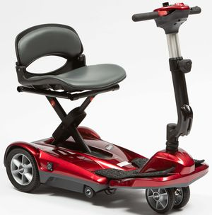 Drive DeVilbiss Autofold 3 Mobility Scooter in Red