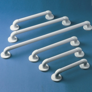 Grab Rail Homecraft Plastic Fluted White 30.5Cm