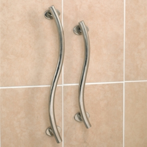 "Grab Rail Luxury Curved Stainless Steel 30.5Cm (12"")"