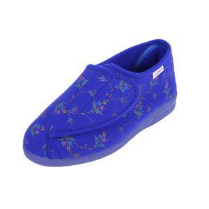 Sandpiper Beryl Ladies Slipper Blue Floral - Various Sizes