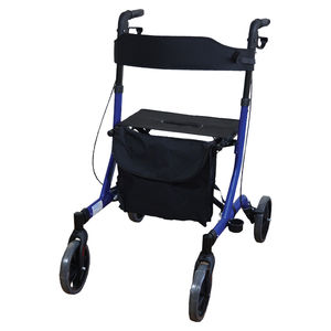 Aidapt Deluxe Ultra Lightweight Folding 4 Wheeled Rollator - VP183BLUE