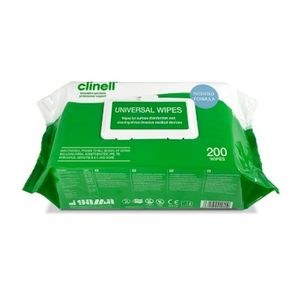 Clinell Universal Wipes Pack of 200 CW200