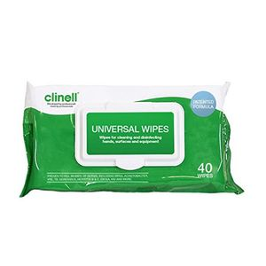 Clinell Universal Wipes Pack of 40 - CW40