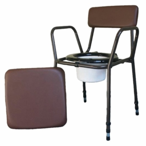 Stacking Commode - Height Adjustable with Removable Arms