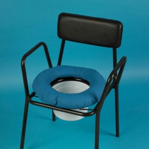 Commode Cushion Circular With Cotton Cover & Flap