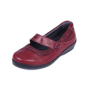 Sandpiper Falmer Ladies Shoe Cherry / Print - Various Sizes