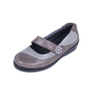 Sandpiper Falmer Ladies Shoe Grey Sparkle - Various Sizes
