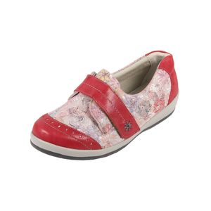 Sandpiper Fenwick Ladies Shoe Red Floral - Various Sizes