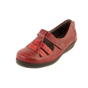 Sandpiper Foxton Ladies Shoe Red - Various Sizes