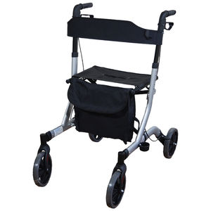 Aidapt Deluxe Ultra Lightweight Folding 4 Wheeled Rollator -VP183GREY