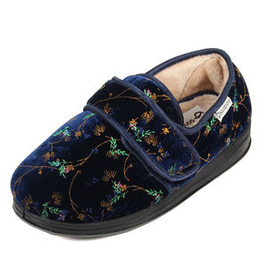 Sandpiper Sofia Ladies Slipper Navy Floral - Various Sizes