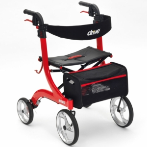Drive Medical Nitro Rollator - Red
