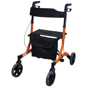 Aidapt Deluxe Ultra Lightweight Folding 4 Wheeled Rollator - VP183ORANGE