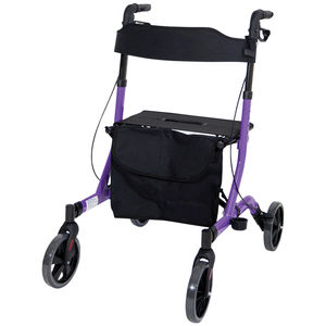 Aidapt Deluxe Ultra Lightweight Folding 4 Wheeled Rollator - VP183PURPLE