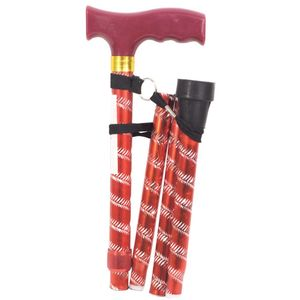 Aidapt Extendable Plastic Handled Walking Stick with Engraved Pattern - Various Colours
