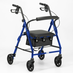 Days 100 Series Lightweight Rollator All Sizes - Blue