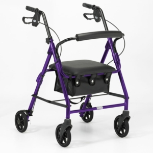 Days 100 Series Lightweight Rollator All Sizes - Purple