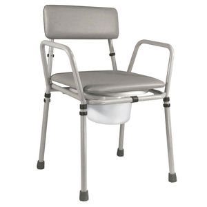 Aidapt Essex Height Adjustable Commode Chair Grey - VR161G