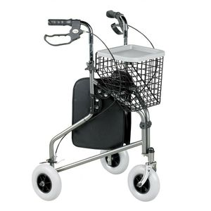 Homecraft Three-Wheeled Rollator With Bag And Basket Grey - 091169978