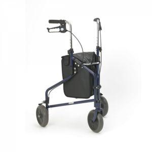 Days Steel Tri Wheel Walkers with Loop Lockable Brakes Blue - 091356757