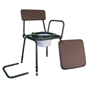 Aidapt Surrey Height Adjustable Commode Chair with Detachable Arms - VR162
