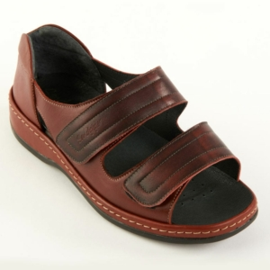 Sandpiper Ladies Shoes - Cheryl Red/Burgundy