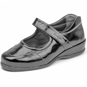 Sandpiper Ladies Shoes - Welton Black.Pat