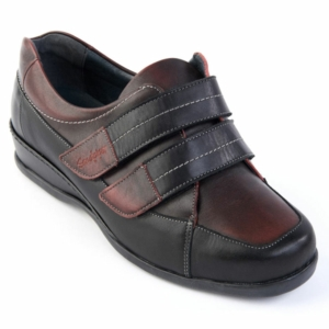 Sandpiper Ladies Shoes - Wested Black/Burgundy