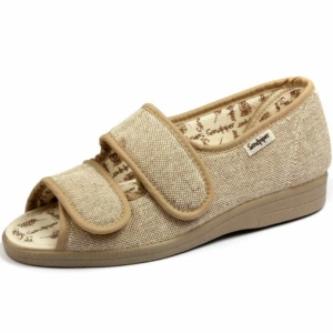 Sandpiper Ladies Slippers - Dora Beige