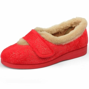 Sandpiper Ladies Slippers - Selina Cherry.Sparkle