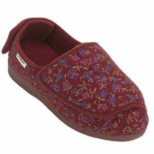 Sandpiper Ladies Slippers - Wendy Wine.Floral