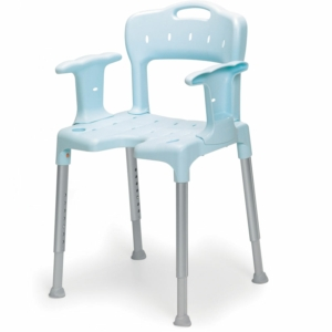 Shower Stool Swift With Back And Arms Blue