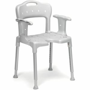 Shower Stool Swift With Back And Arms Grey