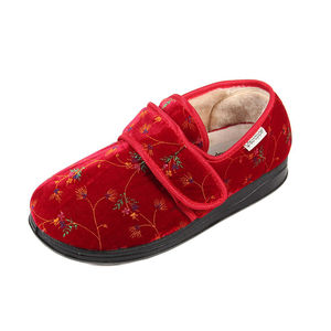 Sandpiper Sofia Ladies Slipper Wine Floral - Various Sizes