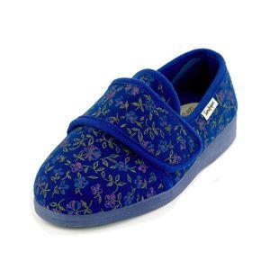Sandpiper Sophie Ladies Slipper Blue Floral - Various Sizes