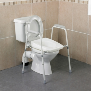 Toilet Frame Stirling Width Adjustable With Padded Arms