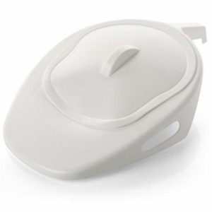 Bed Pan Fracture With Lid White - FPNW