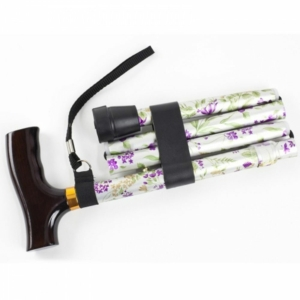 Walking Stick Contoured Grip - Woodland Flowers