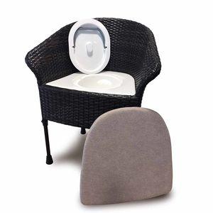 Langhams Walton 6288 Height Adjustable Commode Chair in Dark Wood