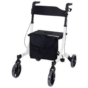 Aidapt Deluxe Ultra Lightweight Folding 4 Wheeled Rollator -VP183WHITE
