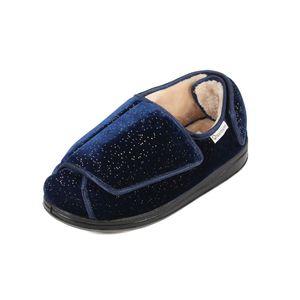 Sandpiper Wyn Ladies Slippers Navy Sparkle  - Various Sizes